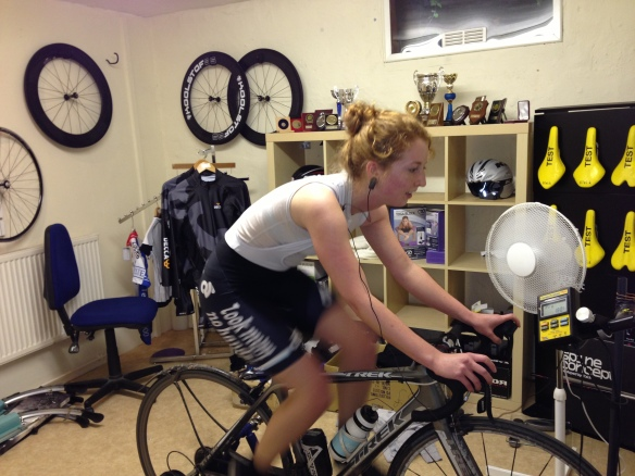 Midway through the twenty minute threshold test