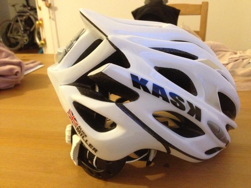 A personalised Kask helmet.